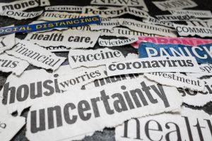 Corona related newspaper headlines
